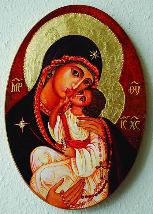 Ikona presvete Bogorodice od Krunice - nastala u novije vrijeme u ozračju ekumenskog susreta Istoka i Zapada