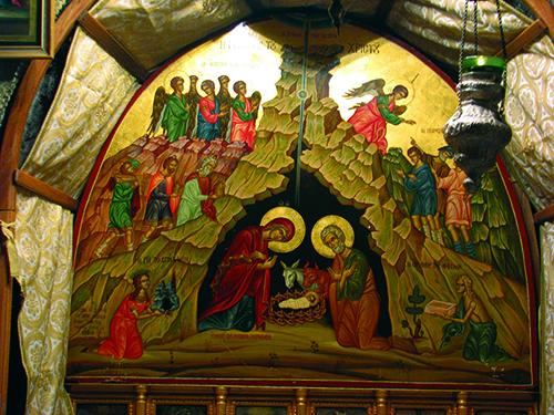 Ikona Rođenja Kristova u svetoj Špilji u Betlehemskoj bazilici Rođenja Kristova