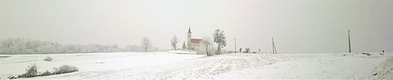 Chapel on the white hill ; fotografirao Slaven Bandur