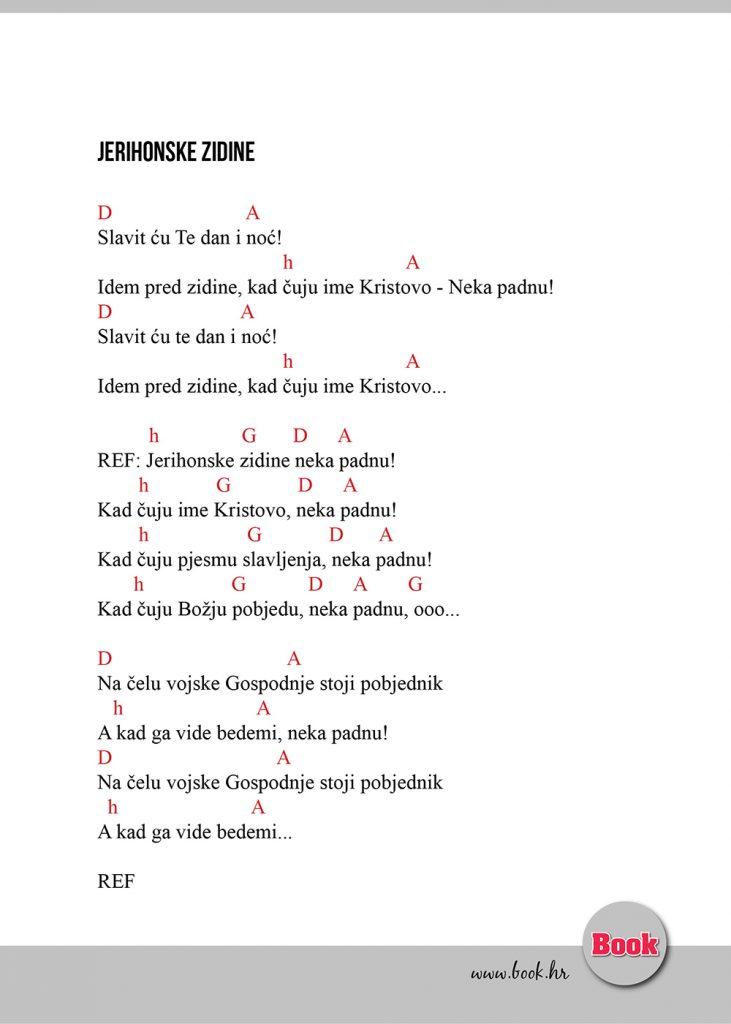 Jerihonske zidine - akordi pjesma