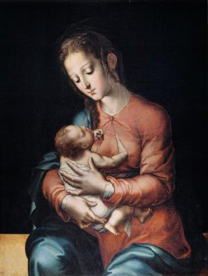 Djevica koja doji, autor: Luis de Morales