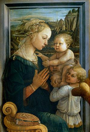 Gospa, autor: Filippo Lippi (sredina 15. st.)