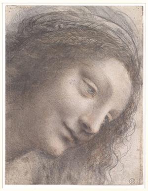 Djevičina glava, autor: Leonardo da Vinci