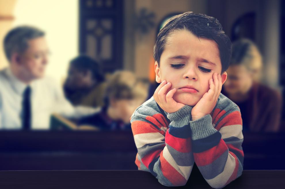 I vašoj je djeci užasno dosadno u crkvi?