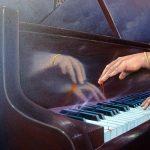 Klavir (ulje na platnu; 50x60cm)