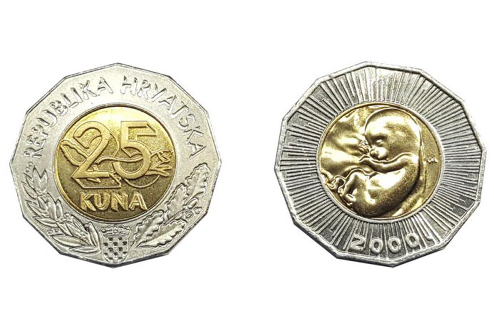 Kovanicu je izdala Hrvatska narodna banka 2000. godine