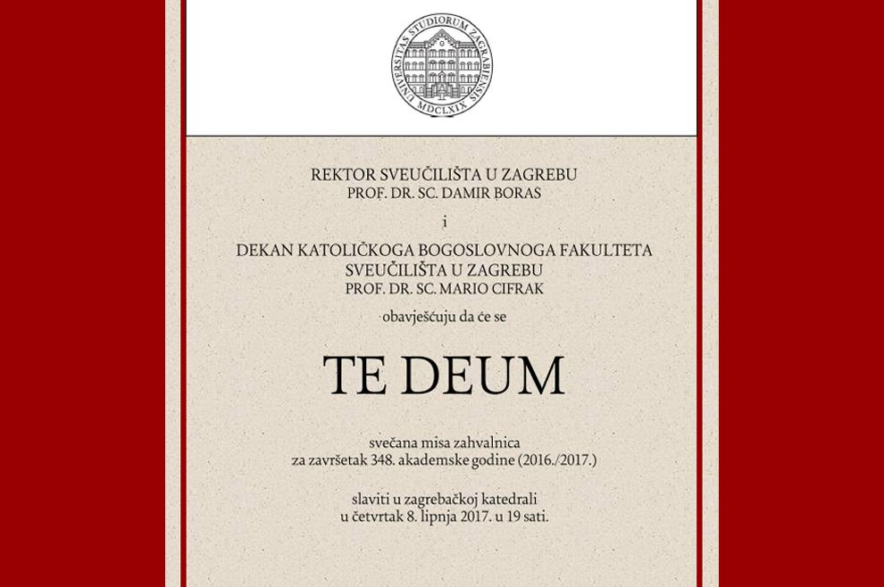 Svečana misa zahvalnica za završetak 348. akademske godine