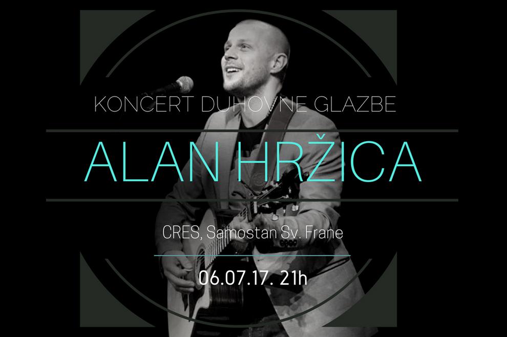 Alan Hržica održava koncert u samostanu sv. Frane