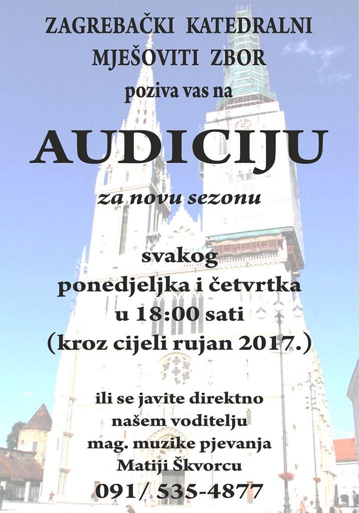 Audicija za zagrebački katedralni mješoviti zbog Zagreb