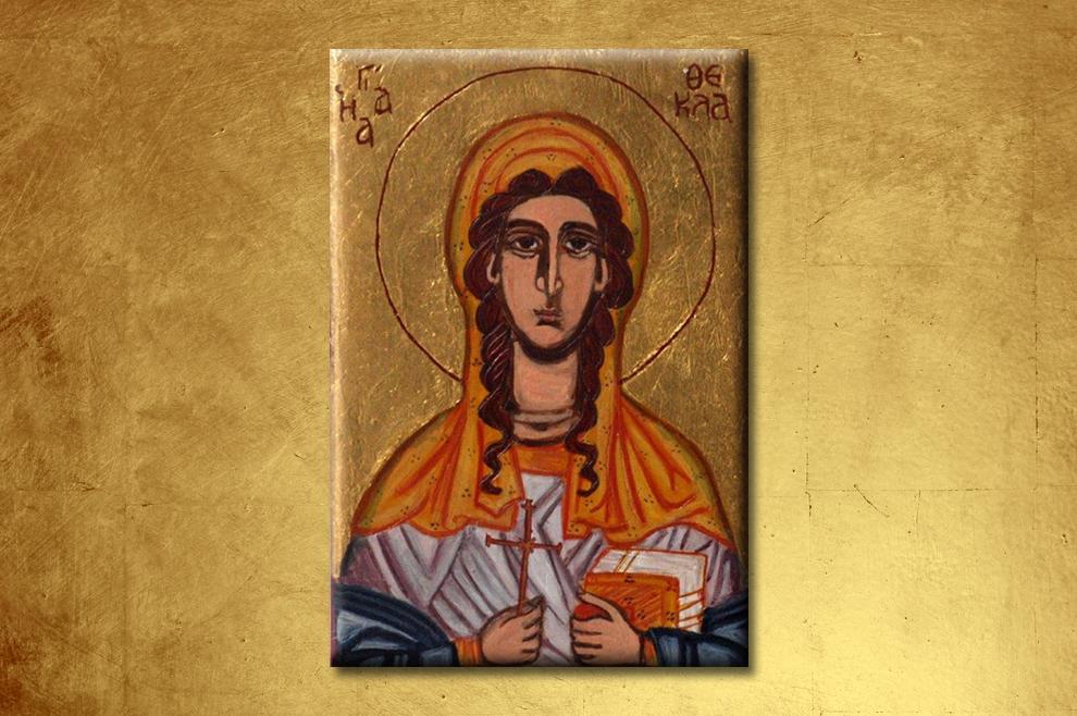 Suvremena bizantska ikona sv. Tekle (foto Etsy)