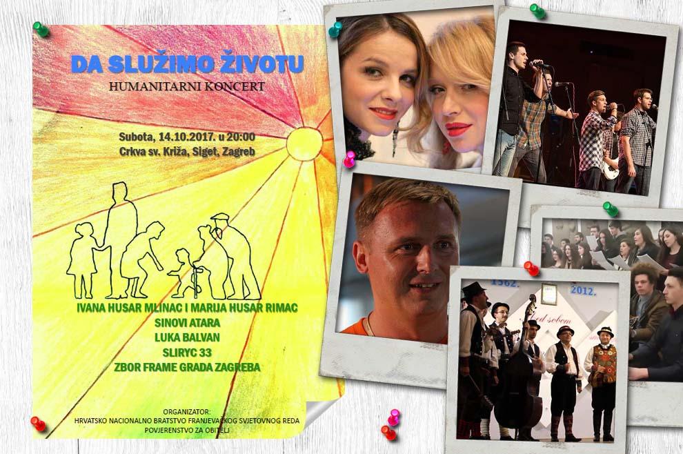 """Koncert """"Da služimo životu"""" za vukovarsku obitelj – nastupaju: sestre Husar, Luka Balvan, Sliryc 33…"""