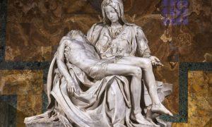 """Michelangelova """"Pietà"""" – skulptura Djevice Marije i njezina mrtvoga Sina budi ljubav prema Bogu koji je dao život za čovjeka"""