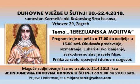 Prijavi se na duhovne vježbe u šutnji u samostanu karmelićanki Božanskog Srca Isusova