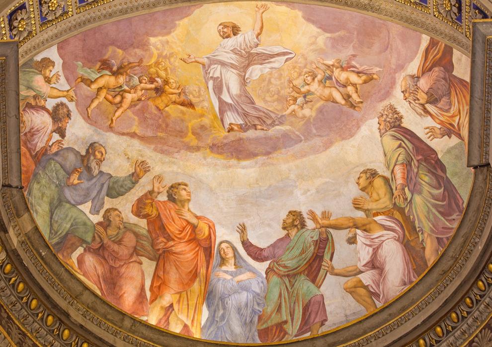Freska u crkvi Santa Maria dell'Anima u Rimu autora Francesca Salviatija (16. st.)