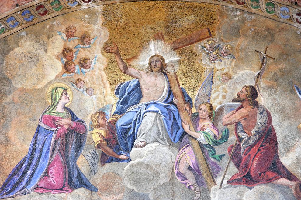 Mozaik u Bazilici sv. Marka u Veneciji.