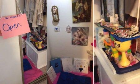 VIDEO Pogledajte kapelicu koju je devetogodišnja djevojčica napravila u svom ormaru