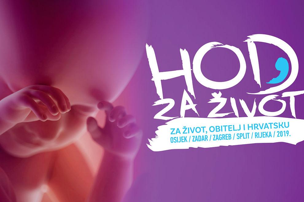 Započeo je 'Hod za život' u Osijeku i Rijeci, pratite prijenos uživo preko Laudato TV-a
