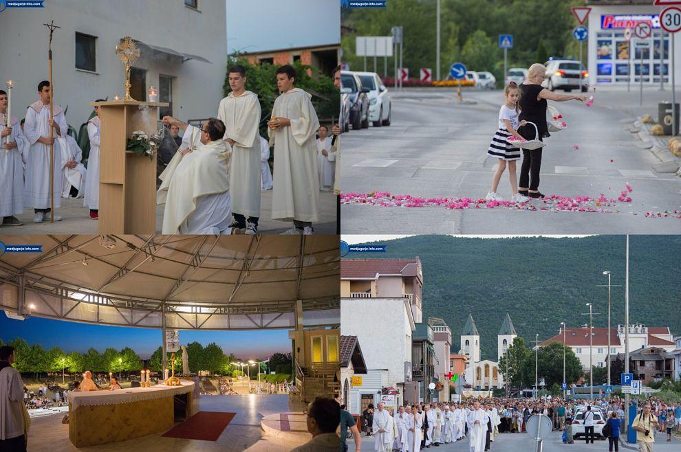 Tisuće vjernika sudjelovalo na tijelovskoj procesiji u Međugorju, pogledajte fotogaleriju