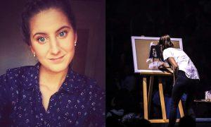 Upoznajte Evu Vukinu, mladu umjetnicu koja je naslikala Gospu pred 18 tisuća ljudi u zagrebačkoj Areni