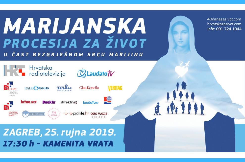 Marijanske procesije za život u 10 hrvatskih gradova