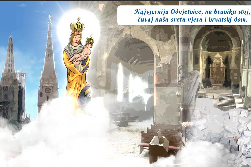 STRIP Najvjernija odvjetnice, na braniku stoj, čuvaj našu svetu vjeru i hrvatski dom