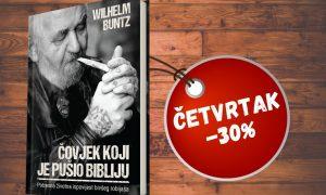 """POPUST ČETVRTKOM Ovoga četvrtka potražite knjigu """"Čovjek koji je pušio Bibliju"""" sniženu 30%!"""