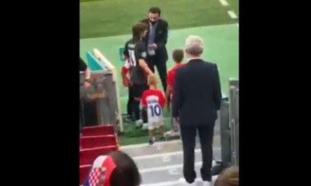 VIDEO Luka Modrić nakon poraza u zagrljaju djece